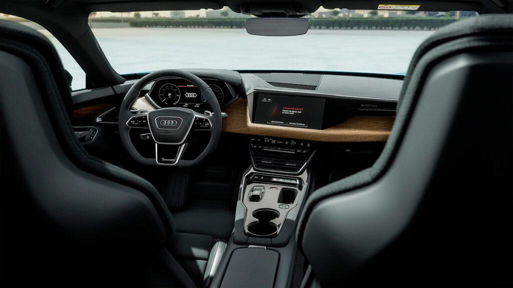 Vista interior del Audi RS e-tron GT