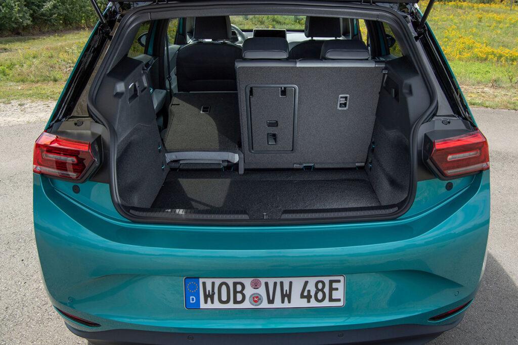 Vista del maletero del Volkswagen ID3
